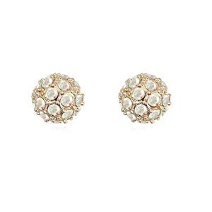 Austrian imitated crystal earrings  Somebody Up There Likes Color white + Champagne Alloy  14822