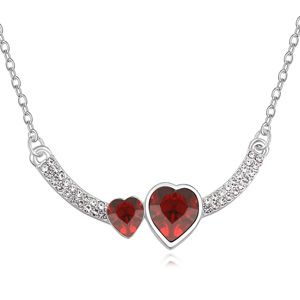 Austrian imitated crystal necklace  Heart wall Red 14730
