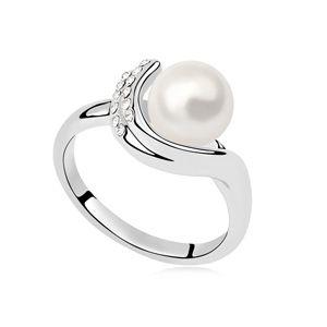 Austria Beads Ring  Watching Dream White 14458