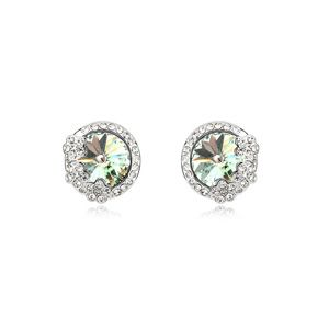 Austrian imitated crystal earrings - Fragrant flowers (The Olive) 14433