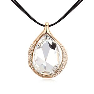 Alloy-plated - Light Desert necklaces (White + Champagne Alloy ) 14268