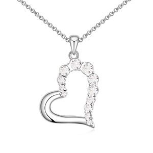 Austrian imitated crystal necklace  Little Sweetheart White 13925