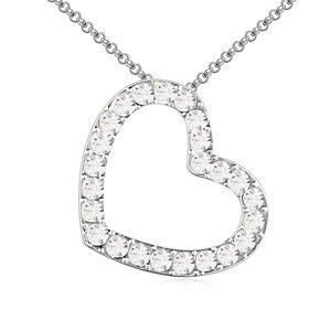 Austrian imitated crystal necklace  Need romance White 13919