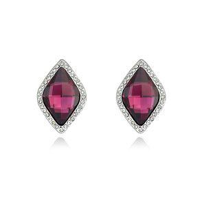 Austrian imitated crystal ear buckle  Century Love Purple 13882