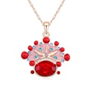 Austrian imitated crystal necklace  Bridal Necklace Light red + Champagne Alloy  14746