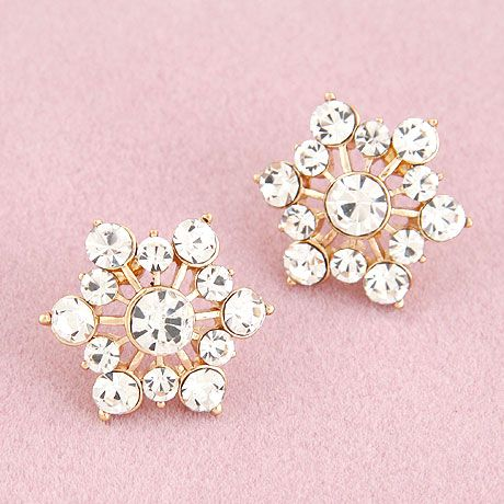 EXQUISITE Sweet shining gem ear studs 216248