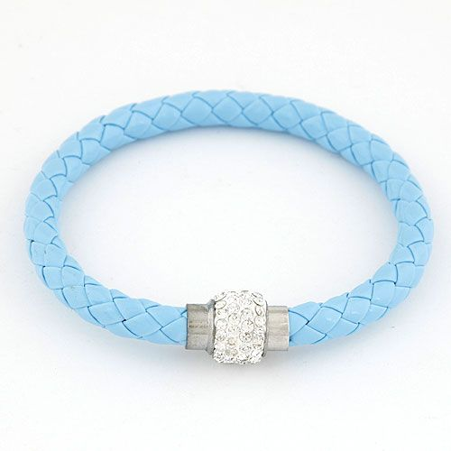 Occident fashion easy match dazzling ball weave cord bracelet 216331
