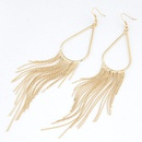 OL concise alloy color tear drop tassel earrings 216273