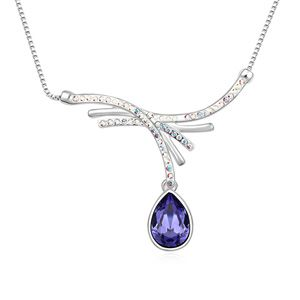 Austrian imitated crystal necklace - Allure Tears (Pale pinkish purple) 15151