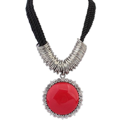 Occident boast round vintage necklace ( red ) 7107668
