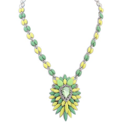Occident fashion contrast color popular necklace ( green ) 7107652