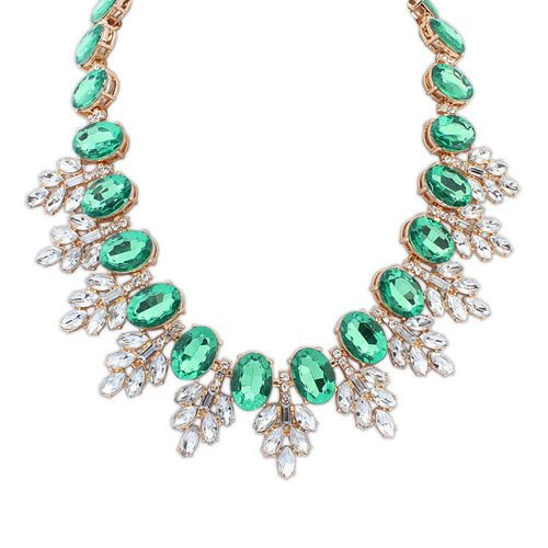 Hot sale popular star tide necklace  green  7107649