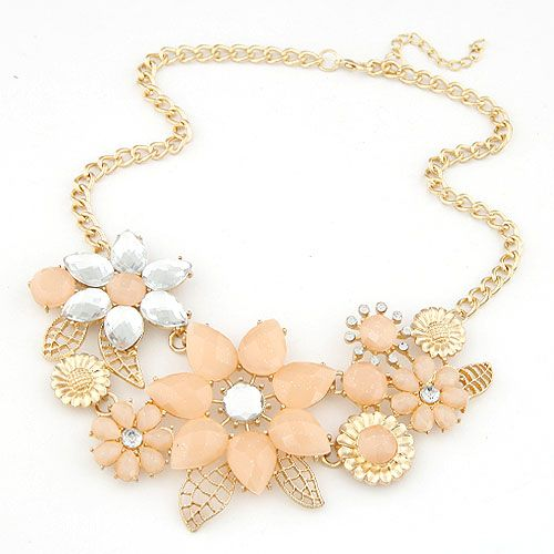 Occident fashion alloy color chain dazzling Bauhinia necklace 216835