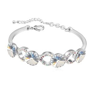 Austrian imitated crystal bracelet - A long long time (White) 15817