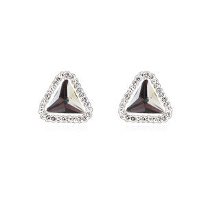 Alloy-plated - Secret boutique earrings (Black Rhinestone) 15776