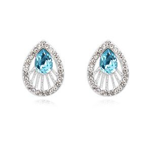 Austrian imitated crystal earrings  Getaway Navy blue 15693