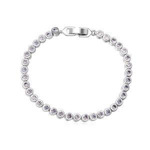 AAA grade CZ Bracelet  Love Long Way White 15953