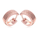 AAAMicro Pave CZ Stud Earrings  Rotary Love White + Rose Alloy 15969