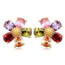 AAA grade zircon earrings  Fireworks discipline Purple 15916