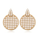 AAAMicro Pave CZ Stud Earrings  Simple Love White + White alloy 15910