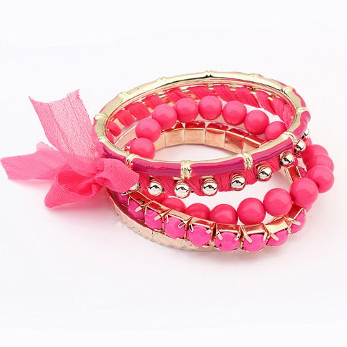 Occident fashion lace multi-layer all match bangle ( rose ) 7107997