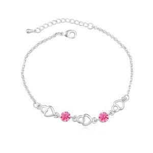 Austrian imitated crystal braceletLove frenzy  Rose  16068