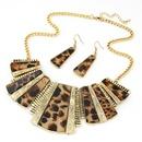Occident fashion metal geometry shape short necklace earrings set 217116