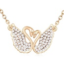 Austrian imitated crystal necklaceLove each other  White + Champagne Alloy  16088