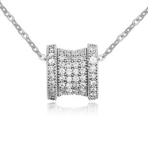 Necklace Micro Pave CZ AAA grade  Transmigration  White  16491
