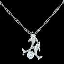 Sweet doubledolphin Cubic Zirconia pendant necklace 217524
