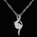 Sweet Cubic Zirconia pendant necklace 217525