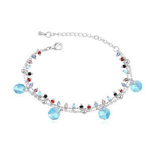 Austrian imitated crystal bracelet  Breeze Church Navy blue 16649