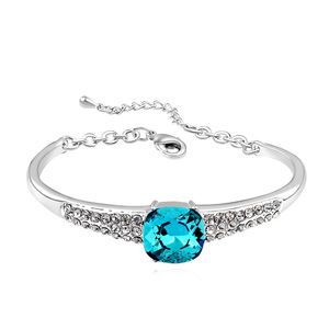 Austrian imitated crystal bracelet  Sky Island Color blue 16555