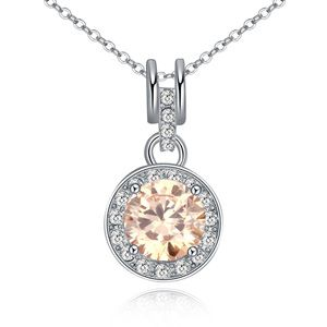 Necklace Micro Pave CZ AAA grade - The origin of life (Champagne) 16549