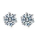 AAA grade zircon earrings 6mm  Shiny  16501