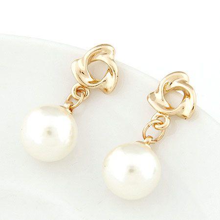 EXQUISITE Sweet grace concise Beads unique ear studs 217713