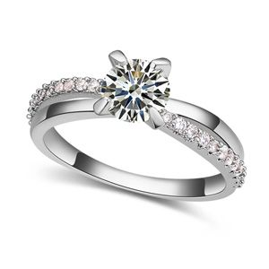 The AAA level micro ring inlaid CZ 18846