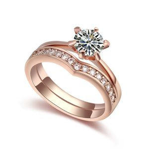 AAA level micro inlaid CZ couples rings 18718