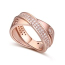 The AAA level micro ring inlaid CZ 18861