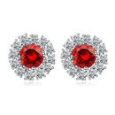 AAA level micro inlaid CZ Stud Earrings 18445