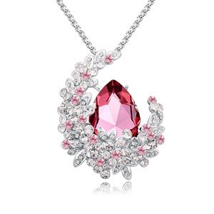 Austria imitated crystal sweater chain  Classical Pink Imitated crystal