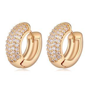 AAA grade zircon earrings - cool summer of the year (champagne) NHKSE21371
