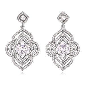 AAA grade zircon earrings  product Han Platinum NHKSE21719