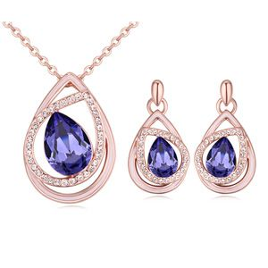 Austrian Imitated crystal Set - Heart s Dream (Tanzanite) NHKSE21678