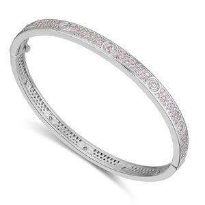 AAA grade zircon bracelet Micro Pave  Paris Rainy Platinum NHKSE21635