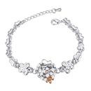 Austrian imitated crystal bracelet  Loving dependencies white NHKSE21815