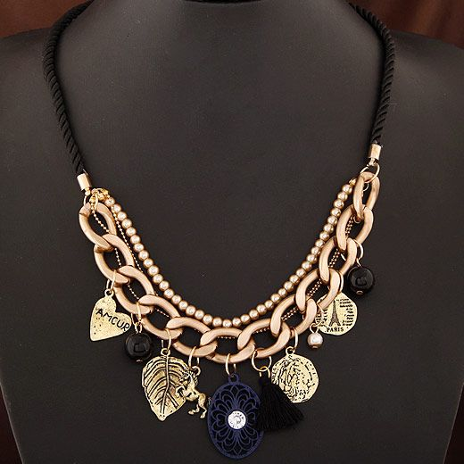 Occident fashion easy match metal chains charms necklace 220526