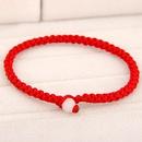 Lucky red cord bracelet 220586