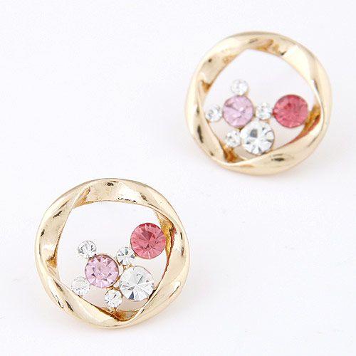 Korean Alloy Czech drilling earrings NH220851