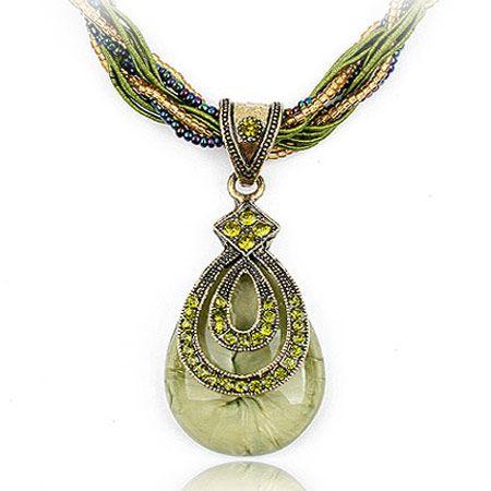 Fashion Alloy rhinestone necklaces NH220039